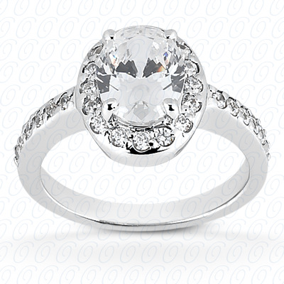 14KP Oval 0.32 CT. Halo