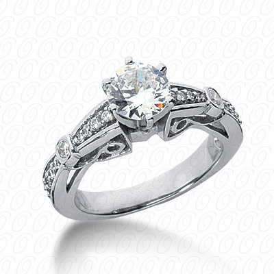 14KP Antique Cut Diamond Unique <br>Engagement Ring 0.20 CT. Engagement Rings Style
