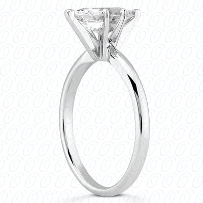 18KP Marquise Cut Diamond Unique Engagement Ring
