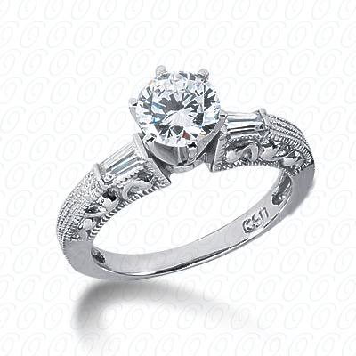14KP Antique Cut Diamond Unique <br>Engagement Ring 0.16 CT. Engagement Rings Style