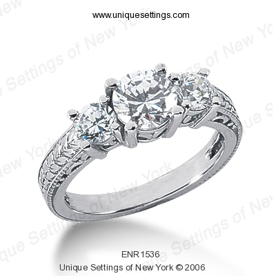 14KP Antique Cut Diamond Unique <br>Engagement Ring 0.60 CT. Engagement Rings Style