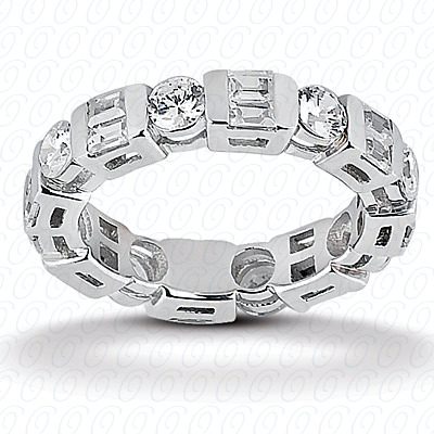 14KW Combinations Cut Diamond Unique Engagement Ring 1.92 CT. Eternity Wedding Bands Style