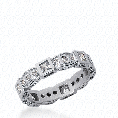 14KW Combinations Cut Diamond Unique Engagement Ring 0.81 CT. Eternity Wedding Bands Style