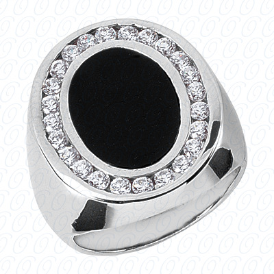 14KP Fancy Styles Cut Diamond Unique Engagement Ring 1.00 CT. Mens Rings Style