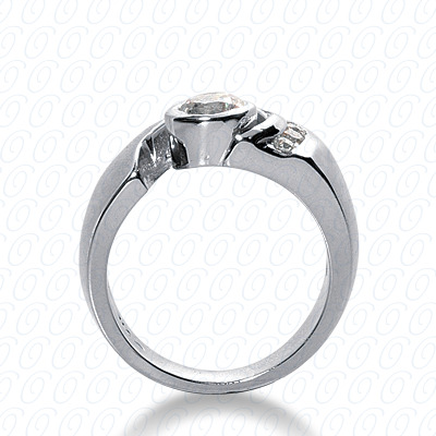 14KP Fancy Cut Diamond Unique <br>Engagement Ring 0.37 CT. Engagement Rings Style