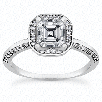 14KP Halo Petite  Cut Diamond Unique <br>Engagement Ring 0.36 CT. Petite Style