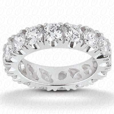 14KP  Round Cut Diamond Unique <br>Engagement Ring 0.53 CT. Eternity Wedding Bands Style