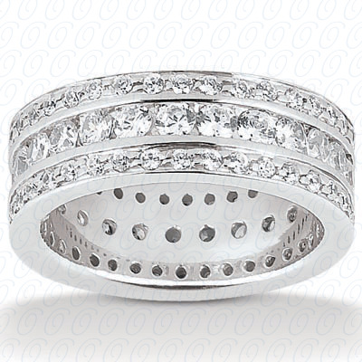14KP  Round Cut Diamond Unique <br>Engagement Ring 1.79 CT. Eternity Wedding Bands Style