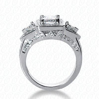 14KW Fancy Cut Diamond Unique Engagement Ring 1.54 CT. Engagement Rings Style