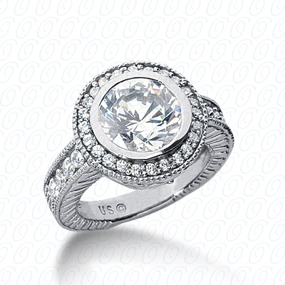 14KP Antique Cut Diamond Unique <br>Engagement Ring 0.44 CT. Engagement Rings Style