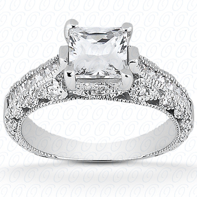 14KW Antique Cut Diamond Unique Engagement Ring 0.61 CT. Engagement Rings Style
