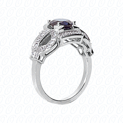 14KP Fancy Rings Cut Diamond Unique <br>Engagement Ring 0.34 CT. Fancy Rings Style