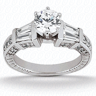 14KP Antique Cut Diamond Unique <br>Engagement Ring 0.83 CT. Engagement Sets Style