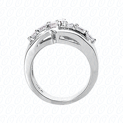 14KP Fancy Rings Cut Diamond Unique <br>Engagement Ring 1.98 CT. Fancy Rings Style