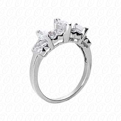 14KP Fancy Rings Cut Diamond Unique <br>Engagement Ring 0.79 CT. Fancy Rings Style