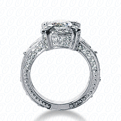 14KP Fancy Cut Diamond Unique <br>Engagement Ring 0.65 CT. Engagement Rings Style