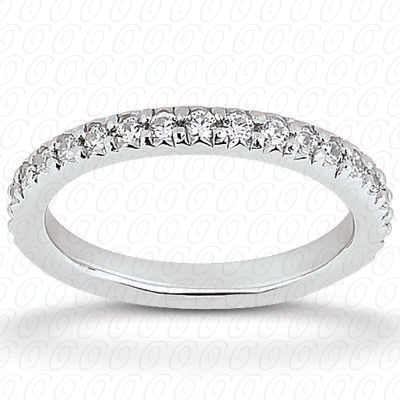 PLAT  Round 0.39 CT. Eternity Wedding Bands