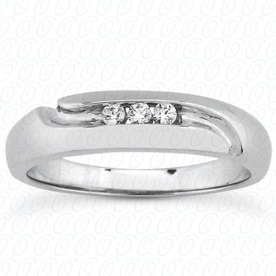 14KP Round Cut Diamond Unique <br>Engagement Ring 0.09 CT. Wedding Band Sets Style