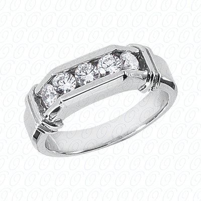14KP Wedding Bands 0.75 CT. Mens Rings
