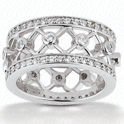 14KP  Round Cut Diamond Unique <br>Engagement Ring 0.90 CT. Eternity Wedding Bands Style