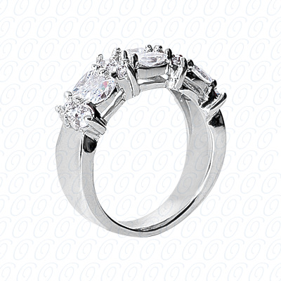 14KP Fancy Rings Cut Diamond Unique <br>Engagement Ring 1.74 CT. Fancy Rings Style