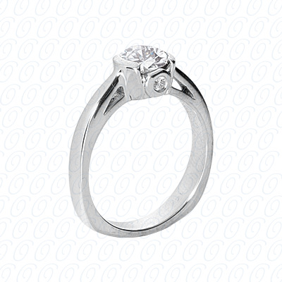 14KP Fancy Rings Cut Diamond Unique <br>Engagement Ring 0.04 CT. Fancy Rings Style