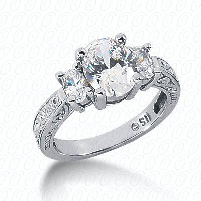 14KP Antique Cut Diamond Unique <br>Engagement Ring 0.76 CT. Engagement Rings Style