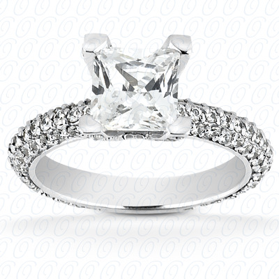 14KP Fancy Cut Diamond Unique <br>Engagement Ring 0.85 CT. Engagement Rings Style