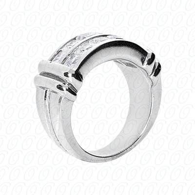 14KP Fancy Rings Cut Diamond Unique <br>Engagement Ring 2.70 CT. Fancy Rings Style