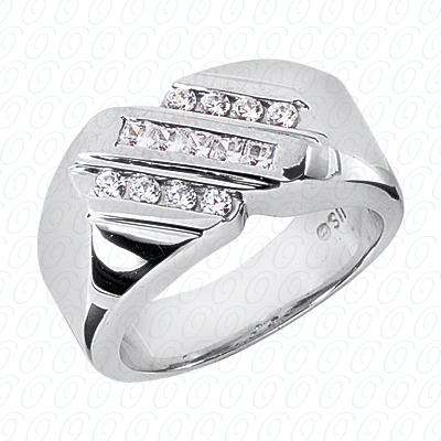 14KP Fancy Styles Cut Diamond Unique Engagement Ring 0.49 CT. Mens Rings Style