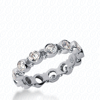14KP  Round Cut Diamond Unique <br>Engagement Ring 1.10 CT. Eternity Wedding Bands Style