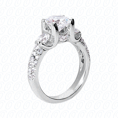 14KP Fancy Rings Cut Diamond Unique <br>Engagement Ring 0.93 CT. Fancy Rings Style