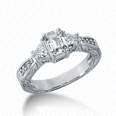 14KP Antique Cut Diamond Unique <br>Engagement Ring 0.46 CT. Engagement Rings Style