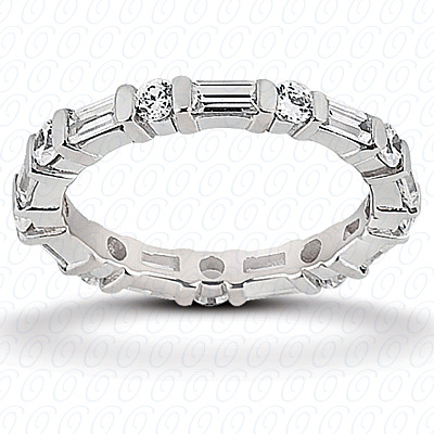 14KW Combinations Cut Diamond Unique Engagement Ring 1.35 CT. Eternity Wedding Bands Style