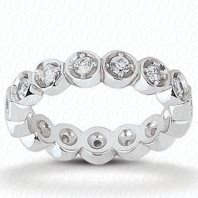 14KP  Round Cut Diamond Unique <br>Engagement Ring 0.32 CT. Eternity Wedding Bands Style