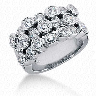 14KP Fancy Rings Cut Diamond Unique <br>Engagement Ring 3.75 CT. Fancy Rings Style