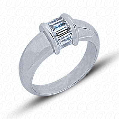 14KP Fancy Rings Cut Diamond Unique <br>Engagement Ring 0.38 CT. Fancy Rings Style