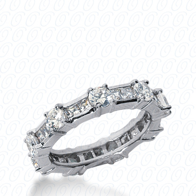 PLAT Combinations 2.00 CT. Eternity Wedding Bands