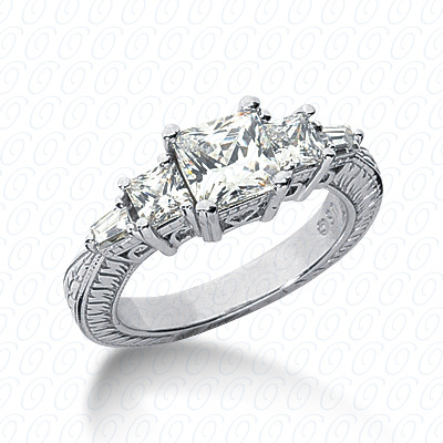 14KW Antique Cut Diamond Unique Engagement Ring 0.66 CT. Engagement Rings Style