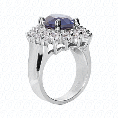 14KP Fancy Rings Cut Diamond Unique <br>Engagement Ring 1.28 CT. Fancy Rings Style