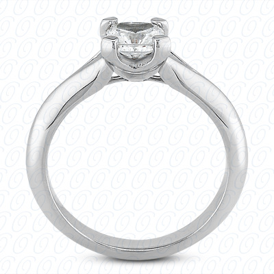 14KP Cushion Cut Diamond Unique Engagement Ring
