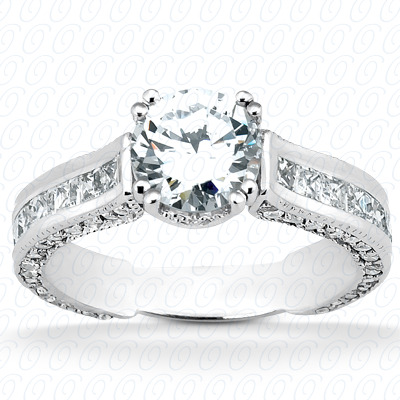 14KW Fancy Cut Diamond Unique Engagement Ring 1.60 CT. Engagement Rings Style