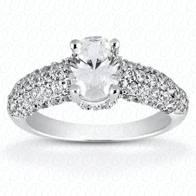 14KP Fancy Cut Diamond Unique <br>Engagement Ring 0.63 CT. Engagement Rings Style