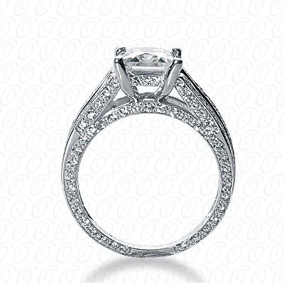 14KW Fancy Cut Diamond Unique Engagement Ring 0.95 CT. Engagement Rings Style