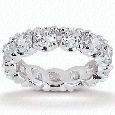 14KP  Round Cut Diamond Unique <br>Engagement Ring 0.69 CT. Eternity Wedding Bands Style