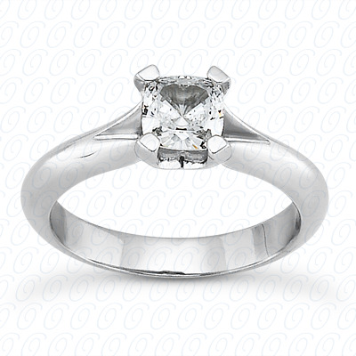 14KP Cushion Cut Diamond Unique <br>Engagement Ring 0.00 CT. Solitaires Style
