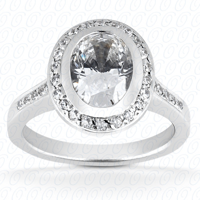 PLAT Oval 0.29 CT. Halo
