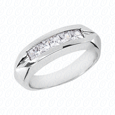 14KP Wedding Bands 0.85 CT. Mens Rings