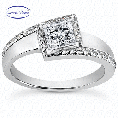 14KP Halo Petite  Cut Diamond Unique <br>Engagement Ring 0.23 CT. Petite Style