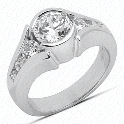 14KP Fancy Cut Diamond Unique <br>Engagement Ring 0.60 CT. Engagement Rings Style